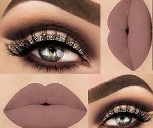 eyes, lips, and lipstick image