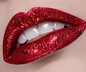 red lips and red image