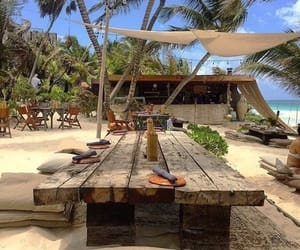 beach, travel, and food image