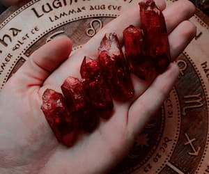 crystal, red, and witch image