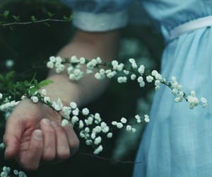 article, flowers, and girl image