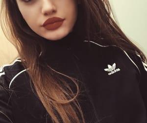 fashion, lips, and adidas image