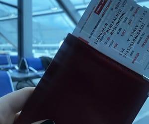 flight, passport, and jet image