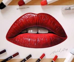 aesthetic, art, and lipstick image