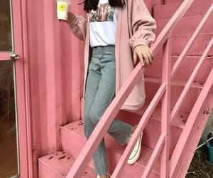 outfit, kfashion, and pink image