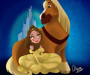 art, beauty and the beast, and belle image