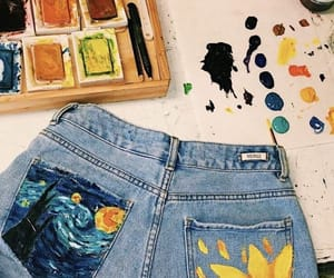 paint, art, and jeans image