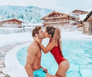 alternative, couple, and kiss image