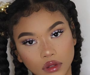 beauty, face beat, and braids image