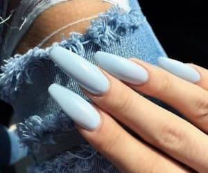 blue, fashion, and nails image