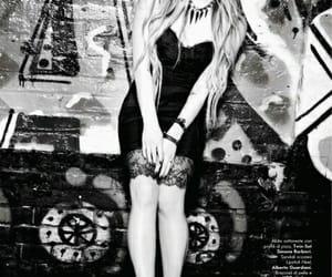 Avril Lavigne, black & white, and magazine image
