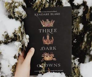 books, winter, and three dark crowns image