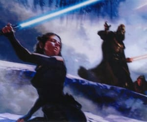 concept art, rey, and jedi image