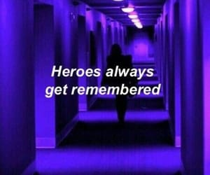 hero, purple, and quote image