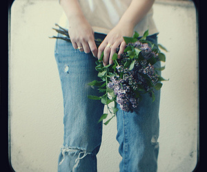 flowers, hands, and through image