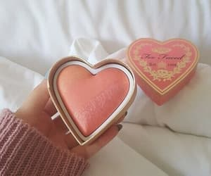 heart, makeup, and girly image