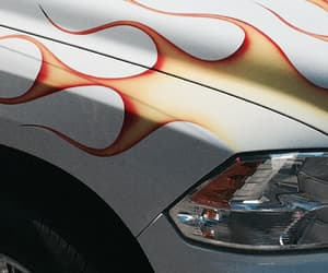 car and flame image