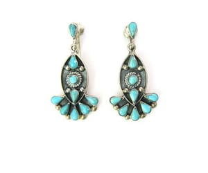 1980s, southwestern, and silver earrings image
