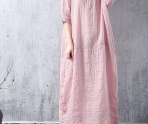 etsy, maxi dress, and pink dress image