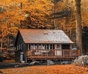 autumn, cosy, and cabin image