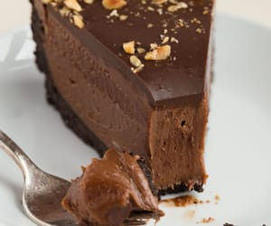 cake, chocolate, and nutella image