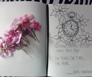 flowers, ispiration, and notebook image