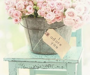 adore, flowers, and wood image