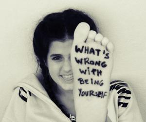 be yourself, phrase, and pretty image