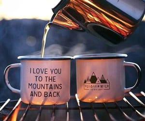 tea, mountains, and coffee image