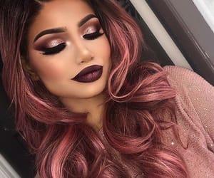 makeup, hair, and girl image