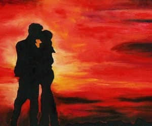 shadow silhouette lovers and sunset sunrise couple image