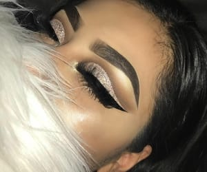 girls, glitter, and makeup image