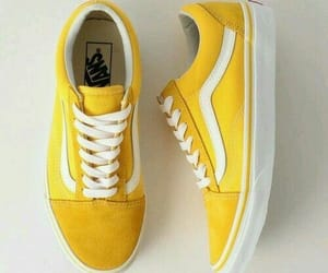 yellow, shoes, and vans image