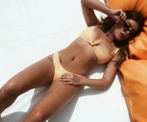beachwear, bikini, and style image