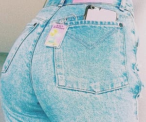 jeans, pink, and blue image