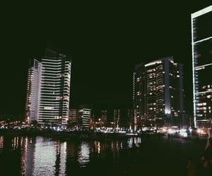 beach, city, and lights image