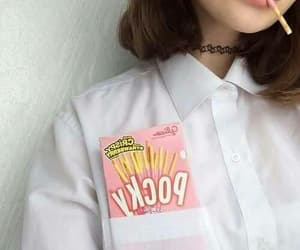 girl, aesthetic, and pocky image