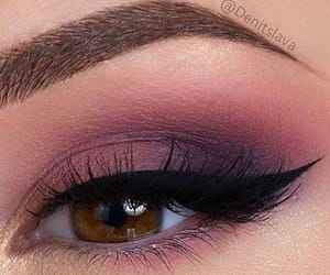 brown eyes, maroon, and cat-eye image