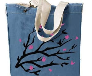 cherry blossoms, shopping tote, and mother day gift image