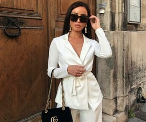 chic, white suit, and diva image