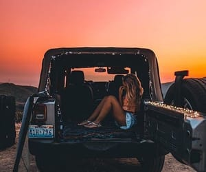 car, colors, and evening image
