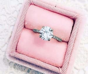 ring, diamond, and pink image