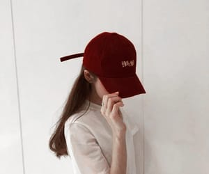 fashion, red, and ulzzang image