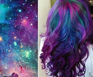 galaxy, hair, and hairstyle image