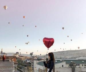 balloons, aesthetic, and girl image