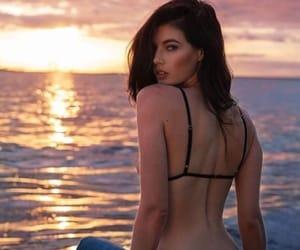 beach, bikinis, and girls image