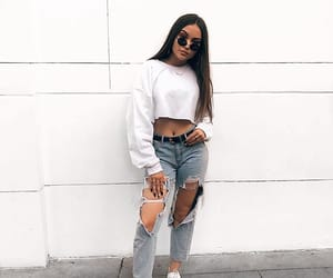white, outfit, and style image