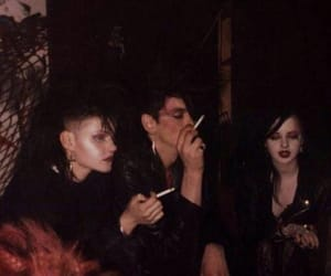 trad goth, 80's, and batcave image