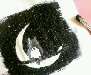 art, painting, and totoro image