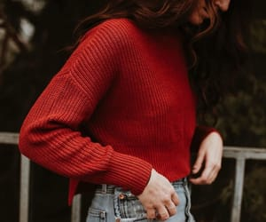 red, girl, and fashion image